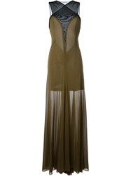 Jay Ahr Sleeveless Gown Dress Green