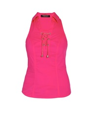 Morgan Sleeveless Blouse With Collar Detailing Pink