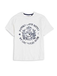Buffalo David Bitton Boy's Graphic Tee White Indigo