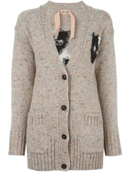 N 21 Nao21 Cat Cardigan Nude And Neutrals