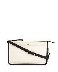 Cole Haan Beckett Colorblock Leather Crossbody Bag Ivory Black