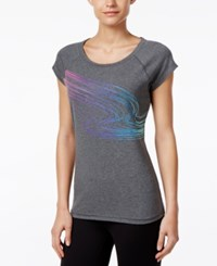 Ideology Dancing Waves Graphic T Shirt Only At Macy's Charcoal Heather