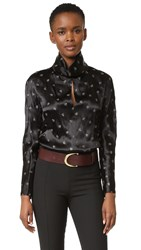 Nina Ricci Satin Blouse Black