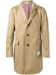Thom Browne Single Breasted Coat Nude And Neutrals