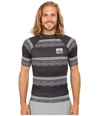 Reef Logo Rashguard Print Black Men's Swimwear