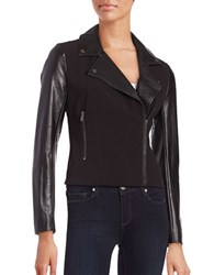 French Connection Alana Contrast Moto Jacket Black