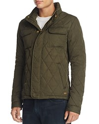 Scotch And Soda Peached Quilted Jacket Army