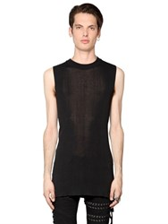 Diesel Black Gold Sleeveless Fine Cotton And Viscose Sweater