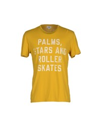 Sun 68 Topwear T Shirts Men Ocher