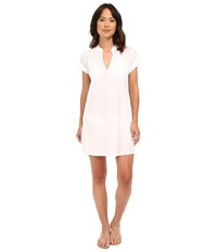 Lauren Ralph Lauren Crushed Darcy Tunic Cover Up White Women's Swimwear