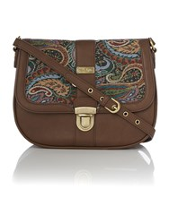 Ollie And Nic Elsa Multi Saddle Bag Multi Coloured Multi Coloured