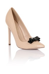 Paper Dolls Tape Bow Court Shoes Nude
