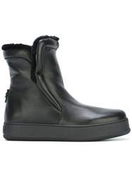 Max Mara Shearling Lined Ankle Boots Black