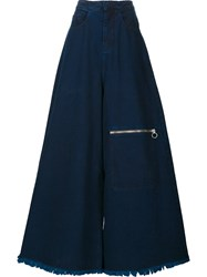 Marques Almeida Marques'almeida Zipped Oversized Palazzo Pants Blue