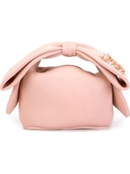 Simone Rocha Embellished Bow Tote Bag Pink And Purple