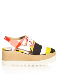 Stella Mccartney Elyse Lace Up Platform Shoes White Multi