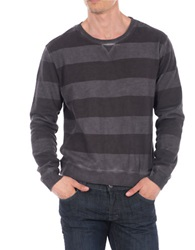 William Rast Rugby Striped Pullover Grey