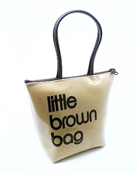 Bloomingdale's Little Brown Bag With Zip