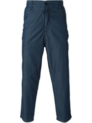 Ejxiii Coated Workwear Trousers Blue