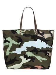 Valentino Reversible Camouflage Printed Tote