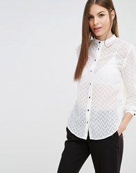 Sisley Chevron Shirt 074 Cream