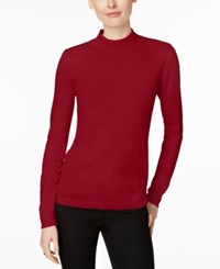 Charter Club Mock Turtleneck Sweater Only At Macy's New Red Amore
