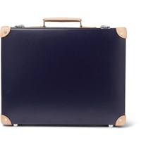 Kingsman Globe Trotter 18' Pinstripe Lined Attache Case Blue