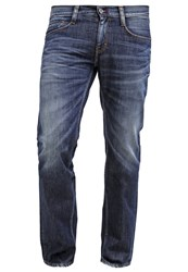 Mustang Oregon Straight Straight Leg Jeans Dark Rinsd Used Dark Blue