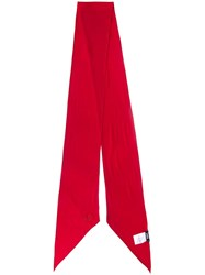 Rockins 'Classic Skinny Solid' Scarf Red