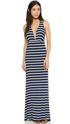 Lovers Friends Tristan Maxi Dress Navy Stripe