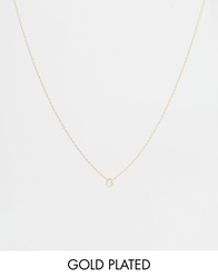 Asos Gold Plated Sterling Silver June Birthstone Choker Necklace Pearlgold