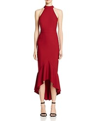 Jarlo Bow Back Midi Dress Burgundy