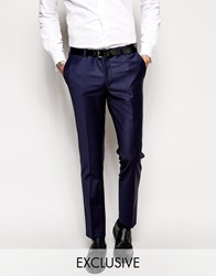 Noose And Monkey Suit Trousers With Stretch In Super Skinny Fit Blue