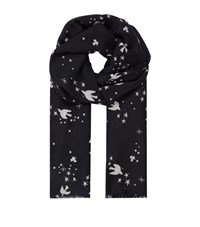 Maje Star Bird Scarf Female Black