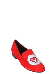 Ak1 By Kardinale Suede Loafers Red