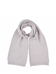 Johnstons Of Elgin Cashmere Quilted Texture Scarf Grey