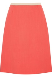 Goat Rodeo Two Tone Wool Crepe Skirt