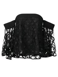 Milly Off Shoulders Flared Sleeves Blouse Black