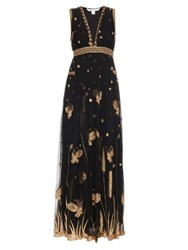 Diane Von Furstenberg Vivanette Dress Black Gold