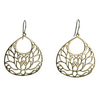 House Of Alaia Lotus Earrings Bronze With Clear Nano Coating And Sterling Silver