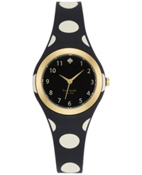Kate Spade New York Women's Rumsey Black And White Polka Dot Plastic Bracelet Watch 30Mm 1Yru0610
