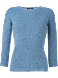 Roberto Collina Fitted Sweater Blue