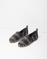 Proenza Schouler Plaid Espadrille Black And White