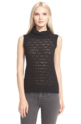 Parker 'Andrew' Sleeveless Knit Turtleneck Black