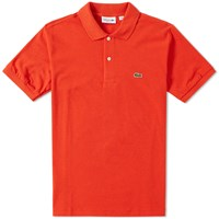 Lacoste Marl Pique Polo Red