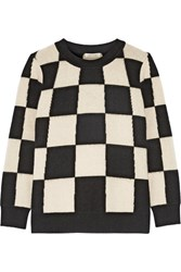 Marc Jacobs Checked Cashmere Sweater Off White