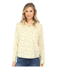 Maison Scotch Lightweight Relaxed Fit Button Up Shirt Yellow Women's Long Sleeve Button Up
