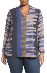 Nic Zoe Plus Size Women's Arctic Lines Top