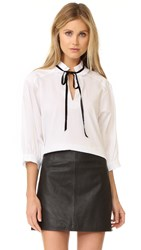 See By Chloe Tie Neck Blouse White