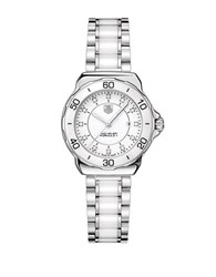 Tag Heuer Ladies Formula 1 White Ceramic Watch With Diamonds